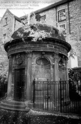 Bluidy George Mackenzie's Tomb infrared photograph © 2012 James C. Williams, All Rights Reserved Greyfriars Kirkyard, Edinburgh, Scotland