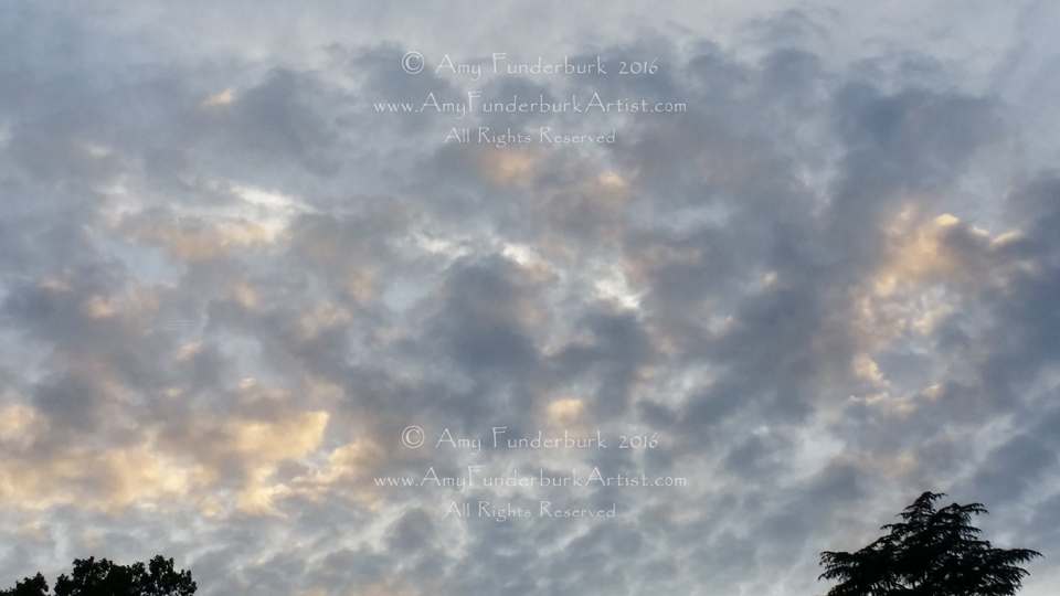 Flock of Sheep Clouds at the Beginning of Sunset, June 23, 2016 digital photograph © Amy Funderburk 2016, All Rights Reserved