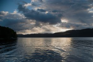 Loch Ness Sunrise with Fish-Shaped Cloud, 9-28-12