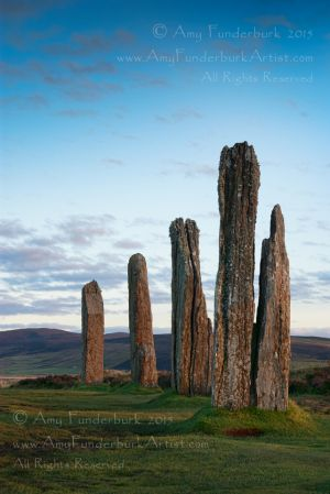 The Beginning of Sunset, Fall Equinox, Ring of Brodgar