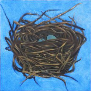 Nest Study #3: The Tangled Nest, in progress July 4, 2017