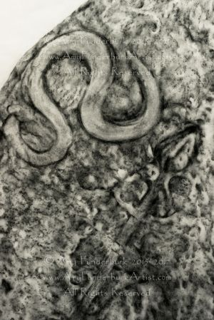 Fictitious Pictish Standing Stone - in progess detail