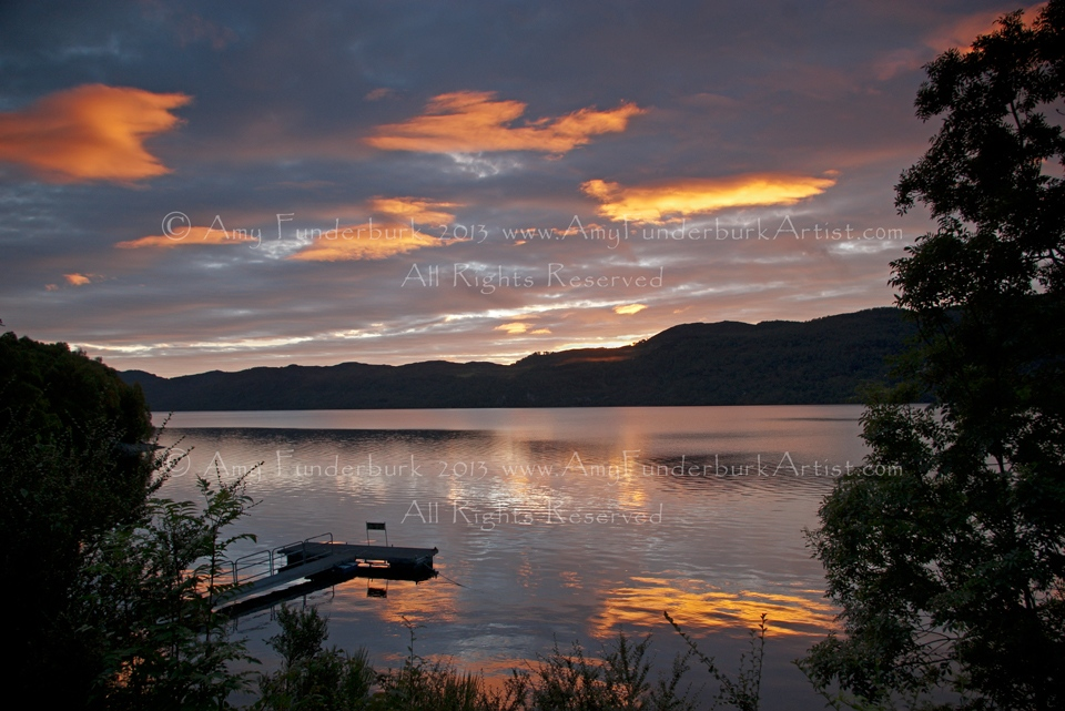 Loch Ness Sunrise with Pier, 9-27-12